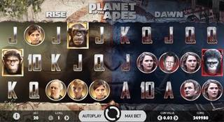 Planet of the apes Spelautomat