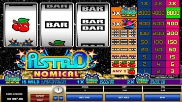 astro nomical slot