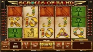 Scrolls of Ra HD Spelautomat